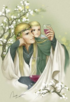 inebriety in Mirkwood:spring by ilxwing