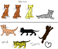Warrior Cats Breedables 1 ((OPEN FOR ADOPTION)) by WingsThePhoenix