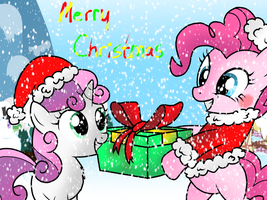Pinkie Clause- Merry Christmas! by AppleBirdie