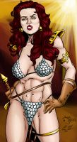 Red Sonja Collab Color by battlereaper