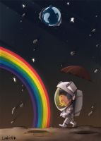 Moon rainbow by AlexLandish