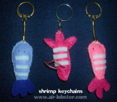 Shrimp Keychains by airlobster