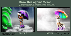 Before After meme - April showers by Mari-Kyomo