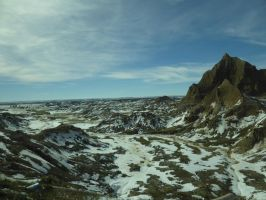 Badlands Covered In Snow by NaturalBeauty-Photos