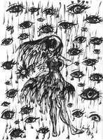Oil Rain in the Forest of Eyes by xDreamDaze000