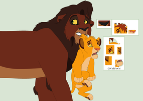 Kovu Carrying Simba Base by ChubNarwhalBases