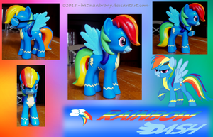 Custom Wonderbolt Dash Vinyl Figure ***SOLD*** by BatmanBrony