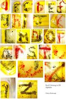 Food Coloring in Oil Alphabet by chkimbrough