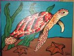 Red Sea Turtle Painting by JadasArtVision