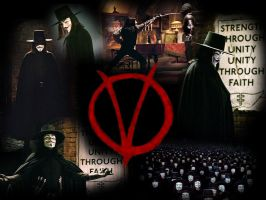 V for Vendetta - Wallpaper by Chihiro-donno