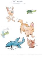 Chibi Animals by faither1382