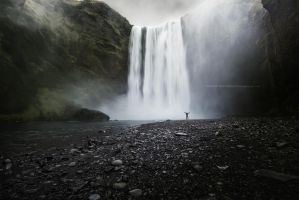 Majestic Skogafoss by Stridsberg