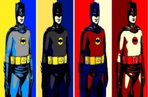 Batman 1966 Roy Lichtenstein style pop art by TheGreatDevin