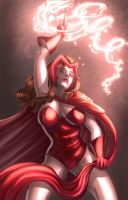Scarlet Witch  scarlet hex by VascoSobral