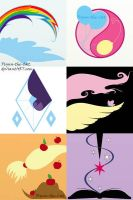 MLP Abstract Designs by Flynn-the-cat
