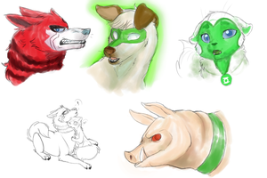 Green Lantern the Animal Series by The-Chibster