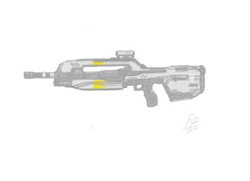 Halo 4 - Battle Rifle by Future-Dreamer