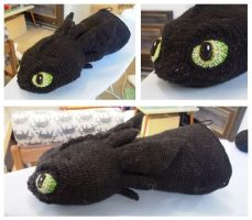 Crochet toothless  terrible terror progress part 1 by silvergirl919