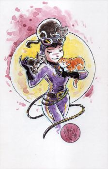Watercolor: Catwoman by mikemaihack