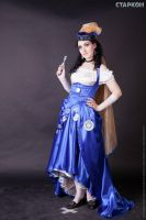 Steampunk TARDIS by MarianHellequin