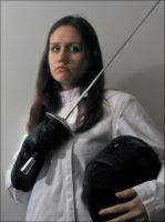 The Woman Fencer by FencerScokeFaofa