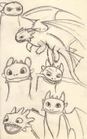 Toothless doodles by foxy-rin