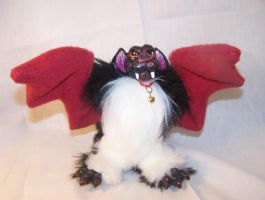 Black and Maroon Posable Bat Doll by omfgitsbutter