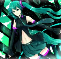 hatsune miku : Green Terra by Sword-Waltz