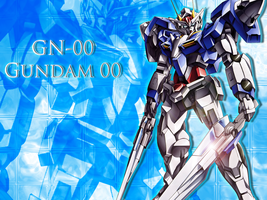 GN-00 Gundam 00 Wallpaper by hono-san