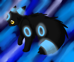 Lineless shiny Umbreon by TheTattuska