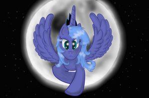 Luna Flying by Conmankez