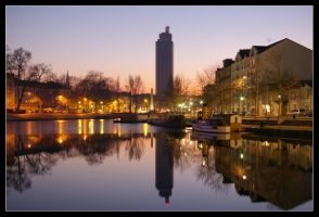 Nantes the evening by Arnold-d