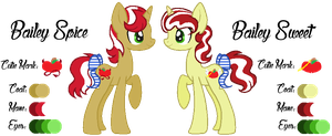 MLP:Bailey Spice and Bailey Sweet Profile by kiananuva12
