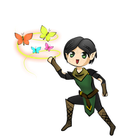 Graphic Tablet: Dragon Age 2: Chibi Merrill by bakaprincess85