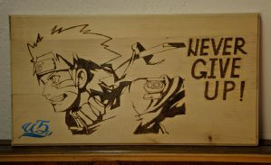 Naruto Uzumaki - wood burning by piroTgraph23