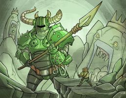 Chibi-Knight: the green knight by jouste
