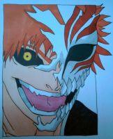 Ichigo with half hollow mask by 2FlashSteps