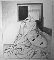 Drawing Midterm- Identity Still Life by SilverSpectrum23