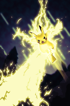 Pikachu, Use Hyperbolt! by clear-as-night