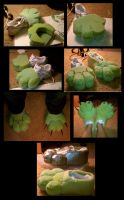 Fursuit Feet WIP by Payasa