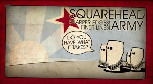 Squarehead Army by Toothpick-Guy