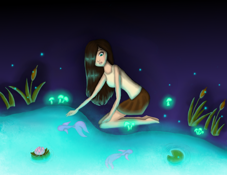 Enchanted Pond by SamanBrosefineIzzle