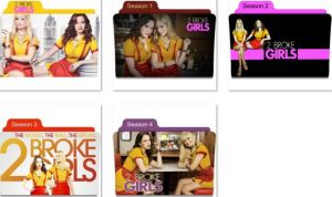 2 Broke Girls Folder Icons by nellanel