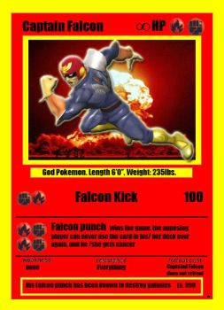 Captain Falcon Pokemon Card by RockDaVote