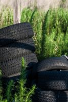 Tires in the Brush by Mimek
