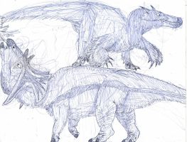 Modern Dinosaurs of the Boreal Forests by MickeyRayRex