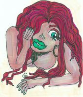 red hair aboriginal naked girl w copic markers by EvaHuynh