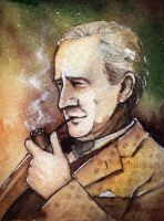 Professor J.R.R .Tolkien by Kinko-White