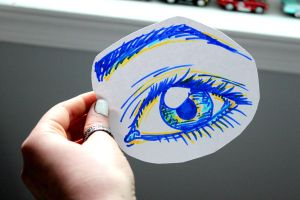 marker eye doodle by doublerainbows