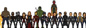Marvel Earth-61619 Heroes Phase2 - Year's end gift by LoganWaynee